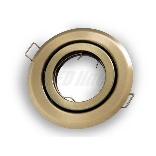 Oprawa halogenowa sufitowa okrągła ruchoma, tłoczona - patyna (5901583242779)