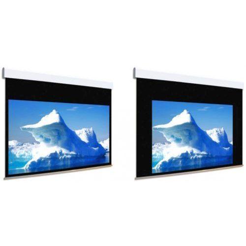 Ekran ścienny elektrycznie rozwijany Biformat 350x369cm, VisionWhiteBE