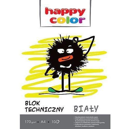 Blok techniczny - a4 170g 10k. biały 20szt marki Happy color