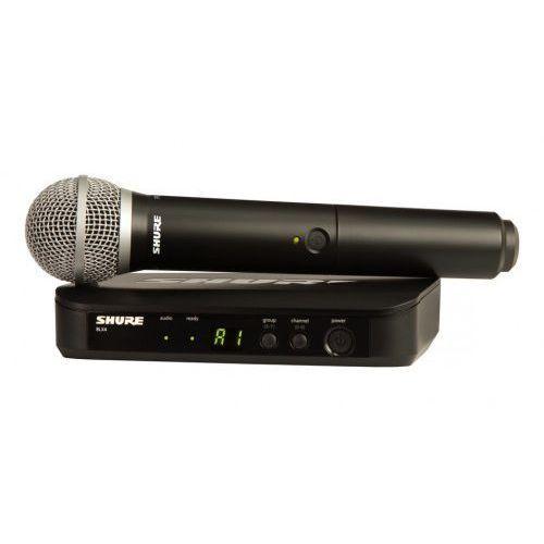 blx24e/pg58 wokalowy system bezprzewodowy pg z mikrofonem pg58 marki Shure
