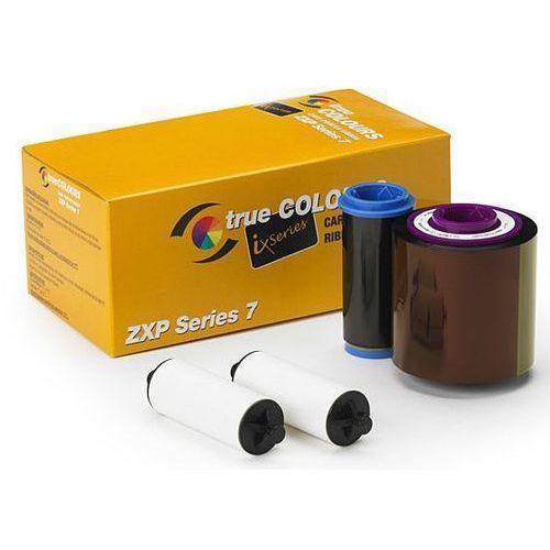 Kolorowa taśma barwiąca YMCKO do drukarki kart plastikowych Zebra ZXP7