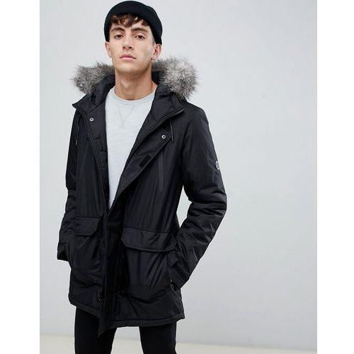 fur trimmed oversized mountain parka durable poly - black, D-struct