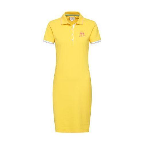 sukienka 'woman dress piquet stretch' żółty marki La martina