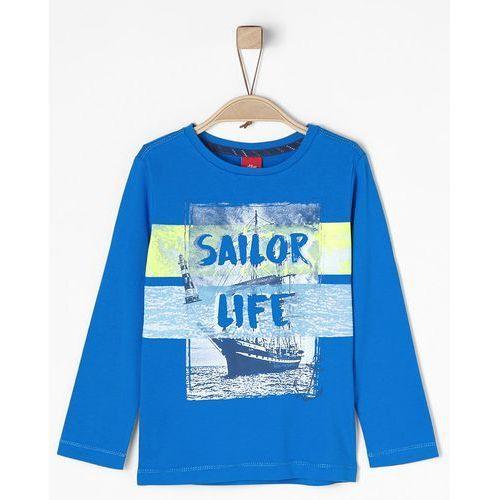 S.oliver koszulka chłopięca 116 - 122, niebieska (4055268296258)