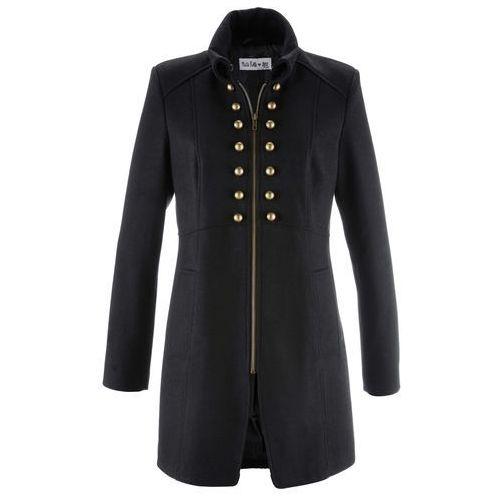 Płaszcz w militarnym stylu z kolekcji Maite Kelly bonprix czarny, kolor czarny