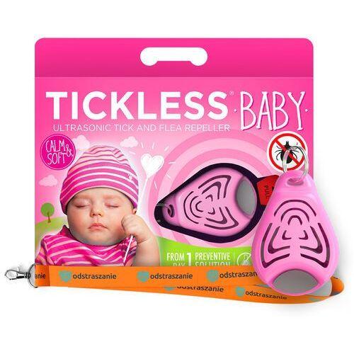 Odstraszacz kleszczy dla dzieci. baby różowy. odstraszacz na kleszcze. marki Tickless
