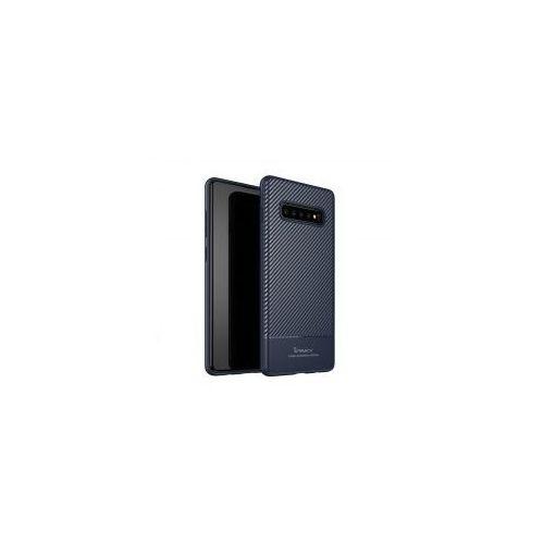 iPaky Carbon Fiber elastyczne etui pokrowiec Samsung Galaxy S10 Plus niebieski (7426825365095)