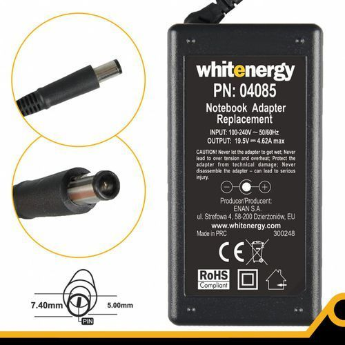 Whitenergy Zasilacz 19.5v/4.62a Wtyk 7.4x5.0 Mm (04085) (5908214303755)
