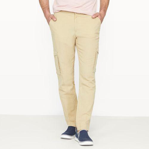 Spodnie bojówki z domieszką lnu marki R édition
