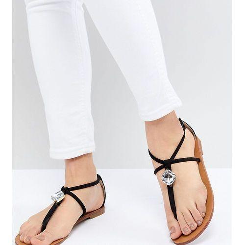 embellished flat sandals - black, London rebel