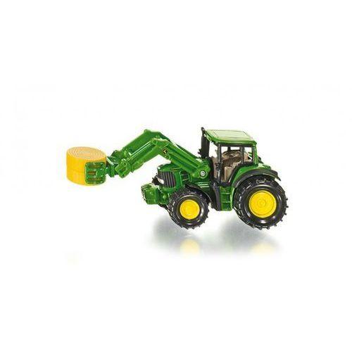 Siku , traktor z chwytakiem do bel - trefl