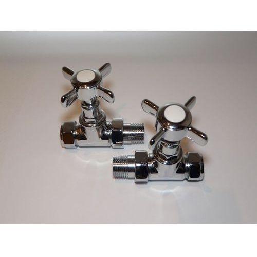 Zestaw zaworów prostych art deco - chrom 1/2'' marki Thomson heating