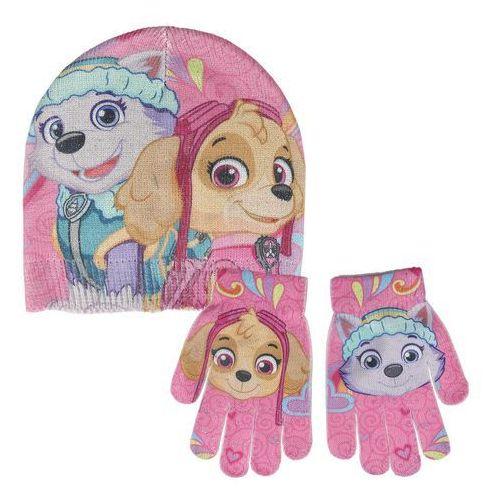 Komplet: czapka jesienna / zimowa i rękawiczki Psi Patrol Skye