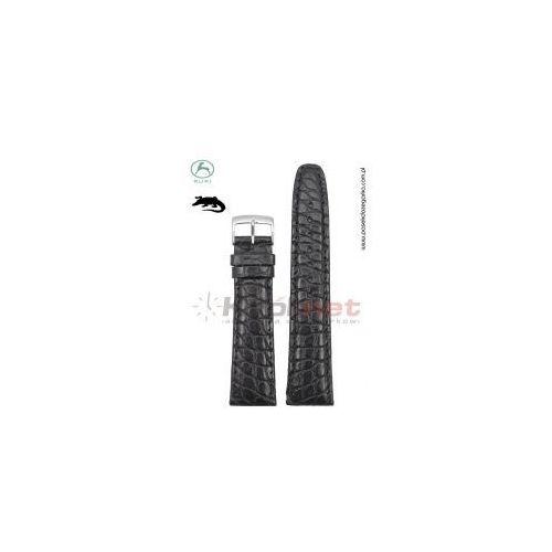 Pasek 0702 - skóra aligatora, czarny, klamerka 16 mm marki Kuki