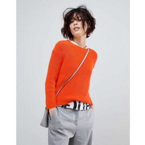 signature ribbed jumper - orange marki Hugo
