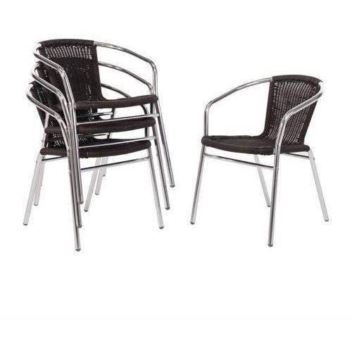 Krzesło czarne | 4 szt. | 53x58x(h)73,5cm marki Bolero