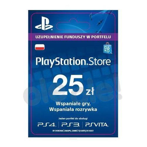 Sony PlayStation Network 25 zł [kod aktywacyjny] z kategorii Kody i karty pre-paid