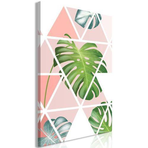 Obraz - geometryczna monstera (1-częściowy) pionowy marki Artgeist