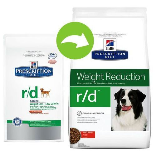 canine r/d weight reduction - 2 x 12 kg marki Hills prescription diet