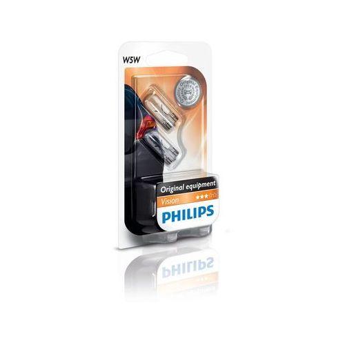 ZESTAW 2x Żarówka samochodowa Philips VISION 12961B2 W5W W2,1x9,5d/5W/12V