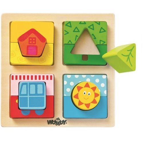 Woody Destička s puzzle tvary Slunce domova, 5_532705