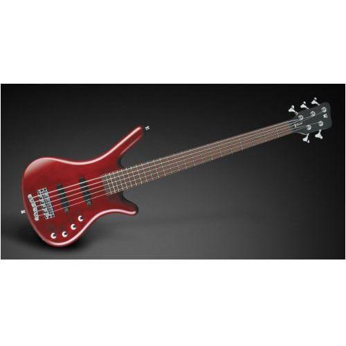 corvette basic 5-str. burgundy red transparent satin, active, fretted gitara basowa marki Rockbass