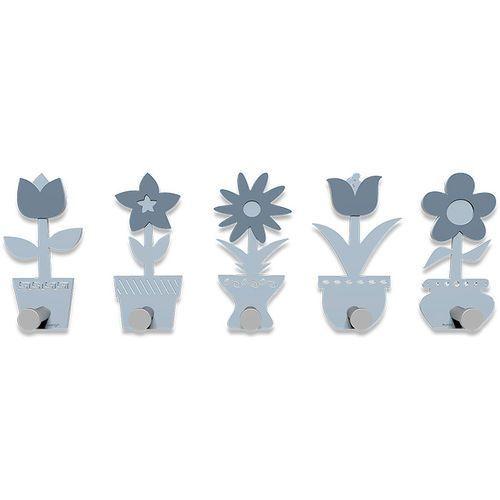 Wieszak ścienny little flowers błękitny (13-003-41) marki Calleadesign
