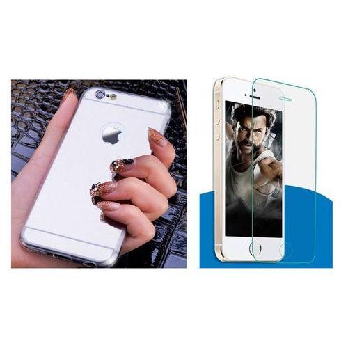 Zestaw   Slim Mirror Case Srebrny + Szkło ochronne Perfect Glass   Etui dla Apple iPhone 6 Plus / 6S Plus