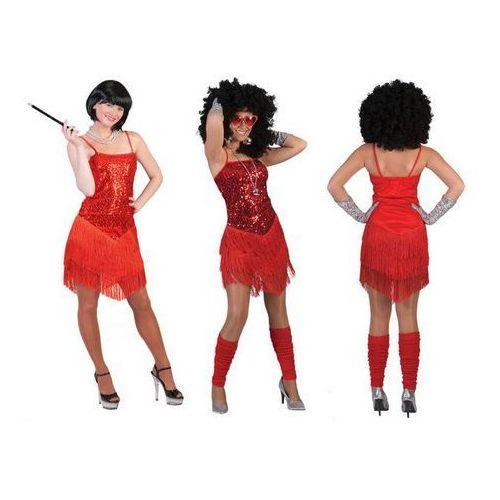 Kostium sukienka błyszcąca czerwona - roz. 36 marki F f