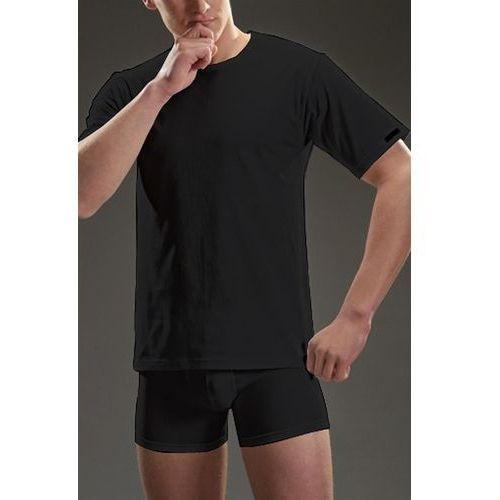 koszulka 202 krótki rękaw plus czarny, Cornette
