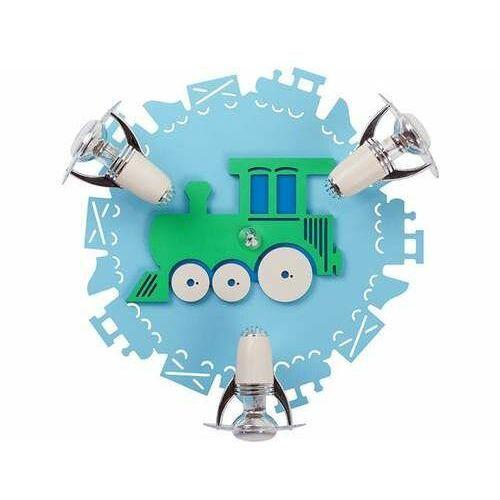 Plafon train iii 4064 lampa sufitowa 3xe14 40w niebieski marki Nowodvorski