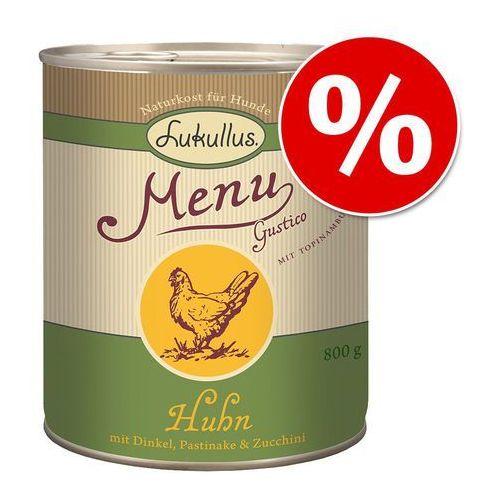 Lukullus Menu Gustico, 24 x 800 g w super cenie! - Kurczak z orkiszem, pasternakiem i cukinią