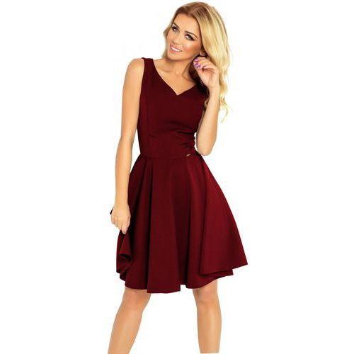 Numoco sukienka damska XL wino, rozkloszowana