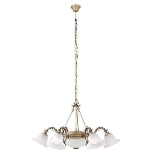 Lampa wisząca zwis Rabalux Orchidea 6x40W E14 + 2x60W E27 brąz/biały 8556