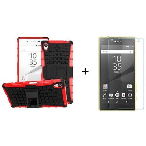 Zestaw | Perfect Armor Czerwony + Szkło ochronne Perfect Glass dla Sony Xperia Z5