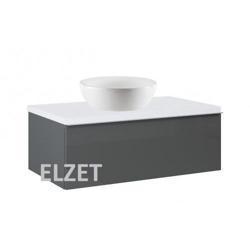 ELITA szafka Look 1S anthracite pod umywalkę nablatową + blat 80 white 167080+166892