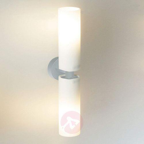 Cube twin - podwójna lampa ścienna, nikiel mat marki Top light