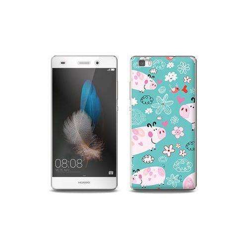 Huawei P8 Lite - etui na telefon Full Body Slim Fantastic - różowe świnki, ETHW190FBSFFC037000