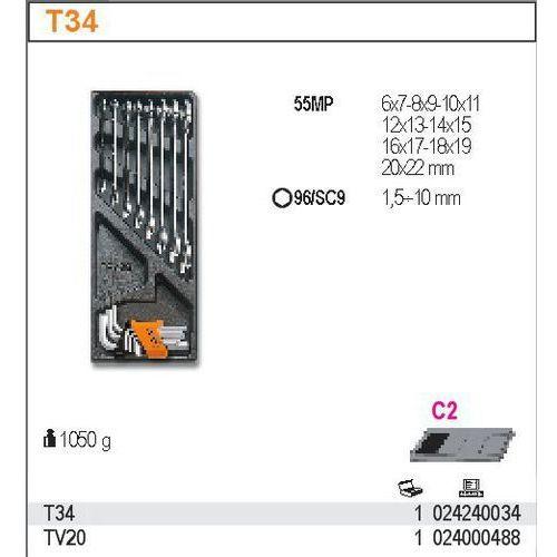 Wkład profilowany twardy z zestawem narzędzi, 17 elementów, model 2424/t34 wyprodukowany przez Beta