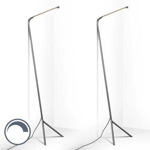 Zestaw 2 lamp stojących lazy lamp stal marki Qazqa