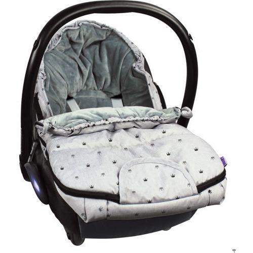 Śpiworek do wózka, fotelika dooky s - light grey crowns t-xp-126946 marki Xplorys