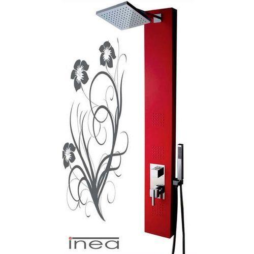 Panel prysznicowy czerwony IN-8708R
