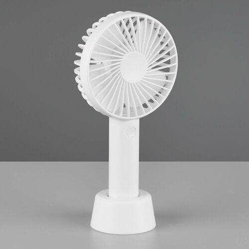 Reality leuchten Wentylator stołowy windy, usb/akumulator, biały