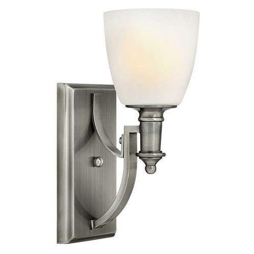 Kinkiet lampa ścienna hk/truman1 elstead szklana oprawa w stylu secesyjnym nikiel szczotkowany biała marki Hinkley