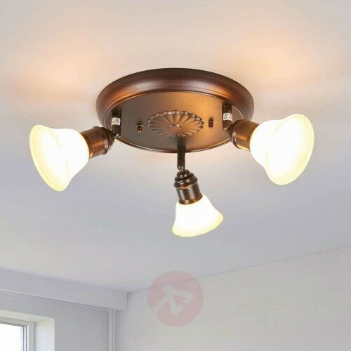 Rustykalna lampa sufitowa Elma