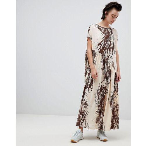 Weekday asymmetric frill hem dress in meadow print - Multi, w 2 rozmiarach