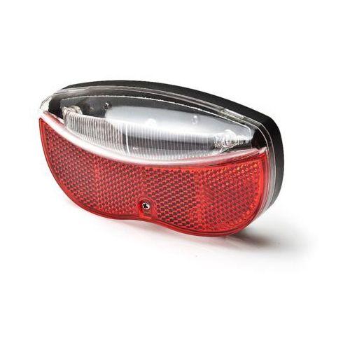 Lampka rowerowa na bagażnik 3xLED 2xAA (w zestawie) z odblakiem czerwono-biała L-FE-3TL MACTRONIC (5907596106381)