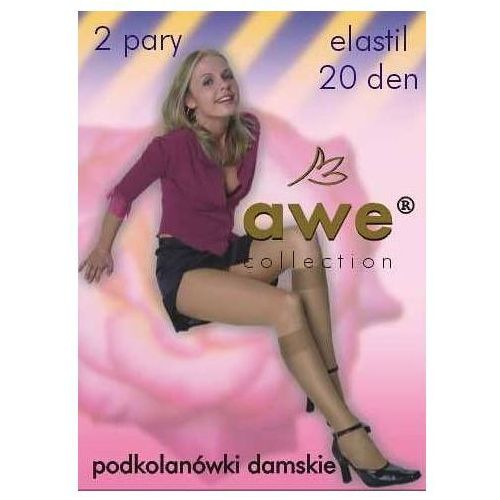 Podkolanówki elastil 20 den a'2 rozmiar: uniwersalny, kolor: beżowy/visone, awe marki Awe
