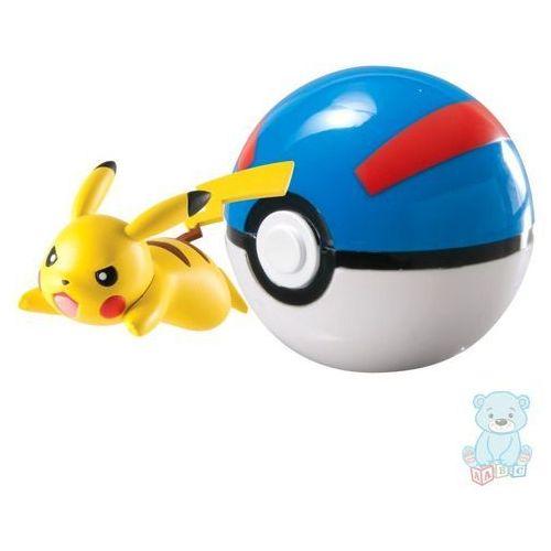 Figurka pokemon pikachu i great ball marki Tomy