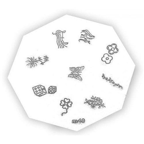 Neonail metal plate for nail art płytka metalowa do zdobień - 14